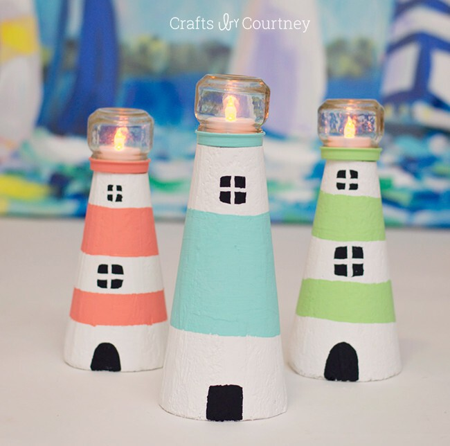 How charming are these tiny lighthouses?