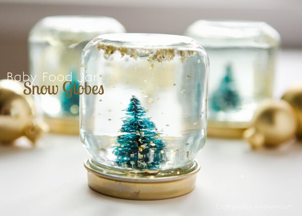 These sweet, sparkly snow globes will bring the holiday cheer.