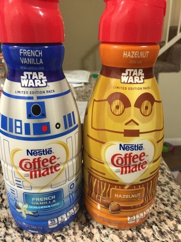 7. And Star Wars flavored coffee creamer?????????