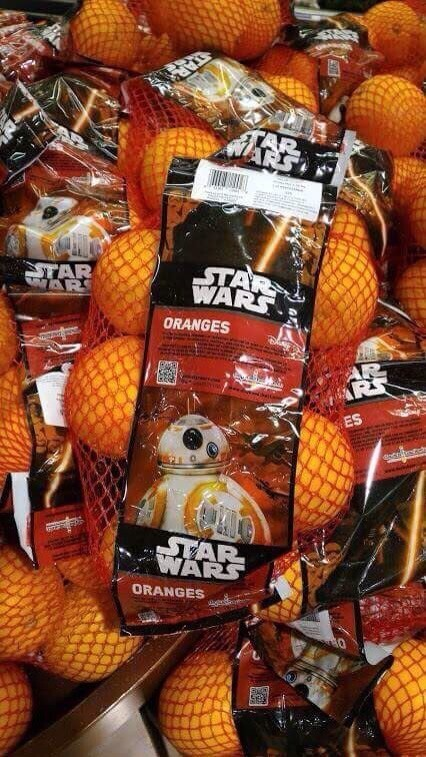 2. First off, there are now Star Wars oranges: