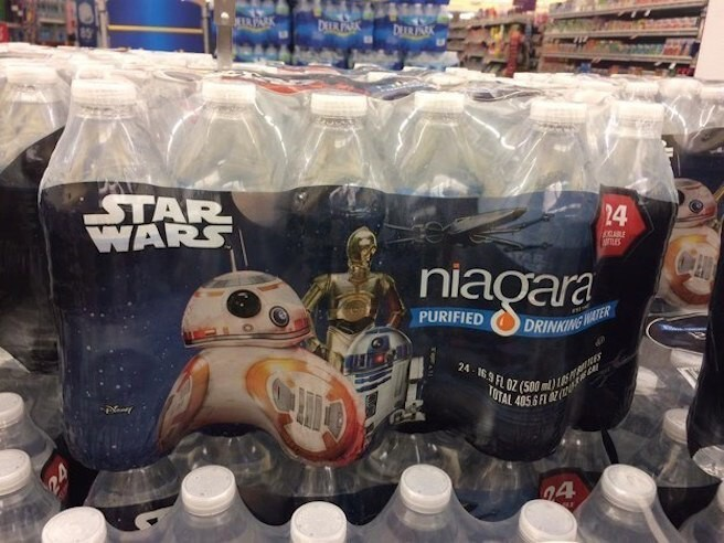 3. And even Star Wars water. THE BUILDING BLOCK OF LIFE, IN STAR WARS FORM: