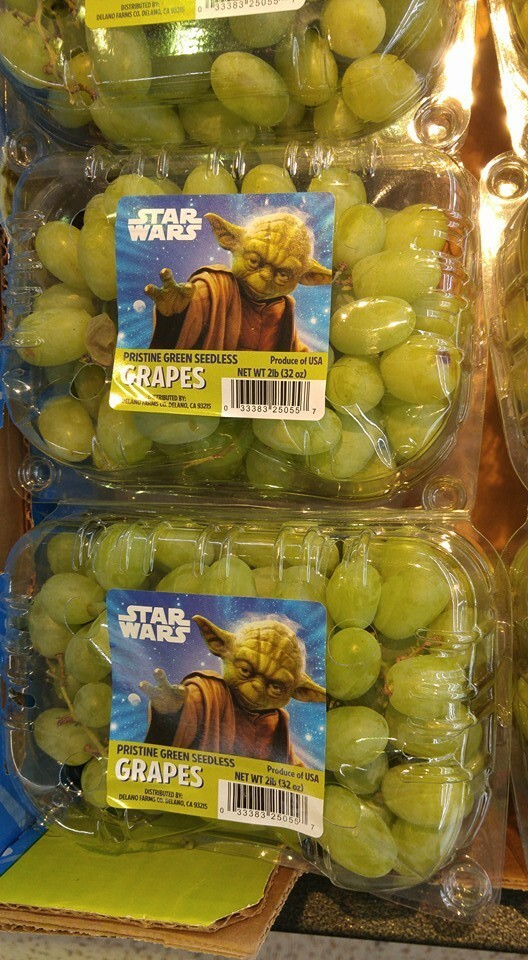 8. Star Wars GRAPES. GRAPES!!! They even got grapes, man. GRAPES: