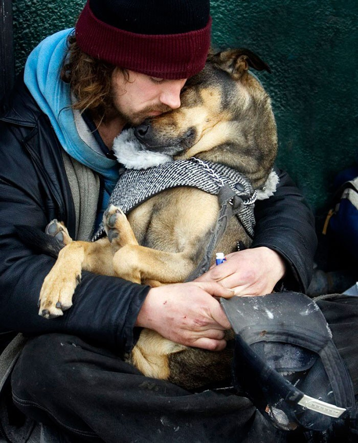 #3 Homeless Man Sleeps In The Arms Of His Dog