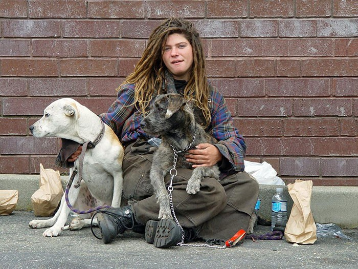 #39 Homeless Woman With Dogs