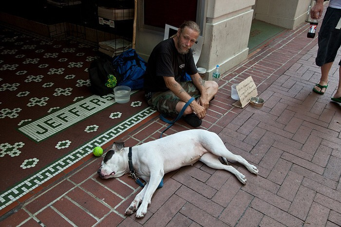 #43 Homeless Man With His Dog