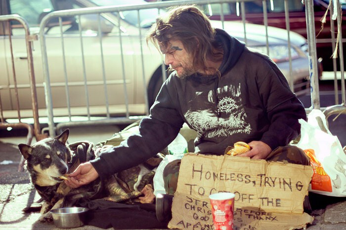 #19 Homeless Man And His Dog