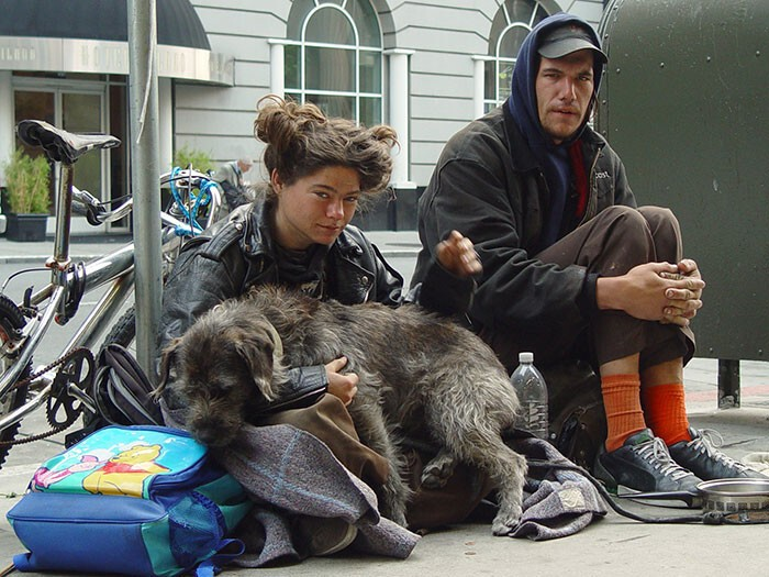 #24 Homeless Couple With Their Dog
