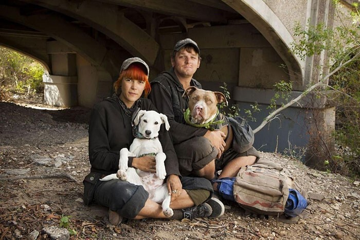 #25 Homeless Couple Maggie And Eric With Their Dogs Dixie And Reptar