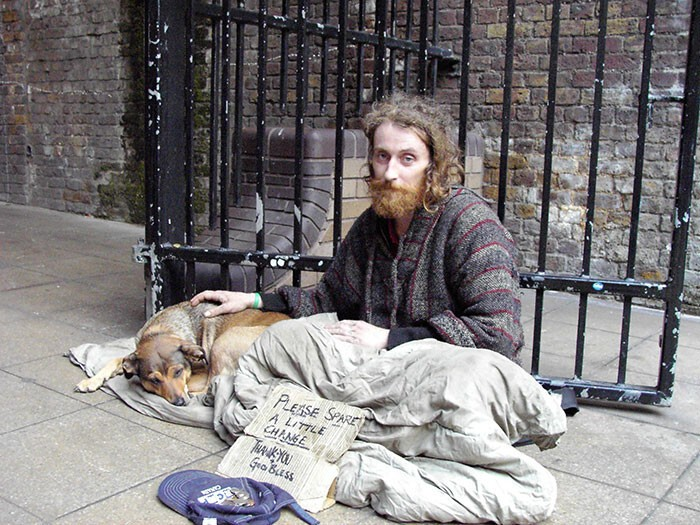 #34 Homeless Man With His Best Friend