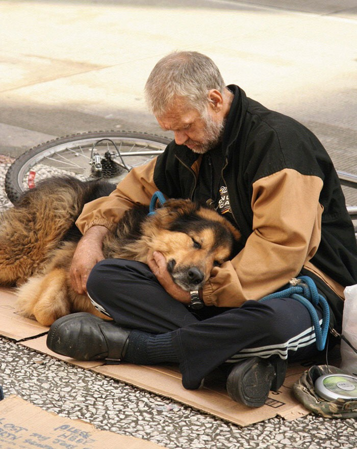 #10 Homeless Man With His Dog