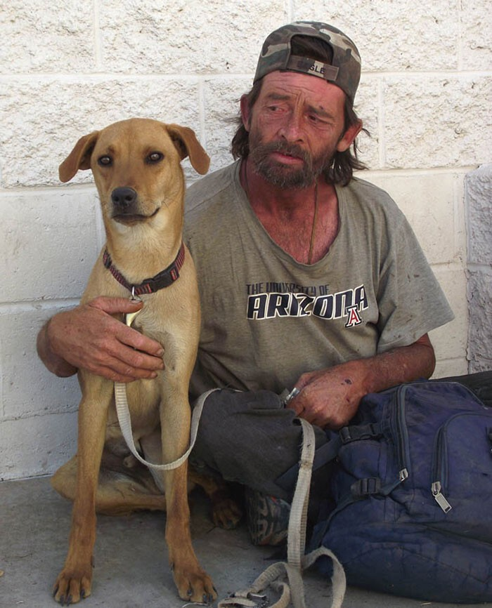 #26 Homeless Man With His Dog