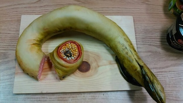 … to this very realistic-looking lamprey.
