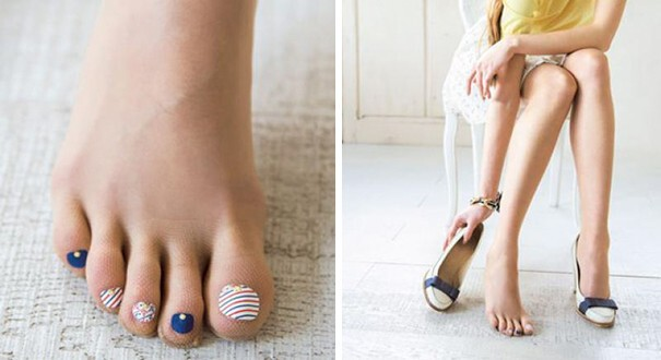 Stockings With Pre-Painted Toenails Are The Latest Craze In Japan
