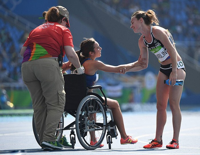"""I'm so grateful for Abbey for doing that for me. I mean, that girl is the Olympic spirit right there."""