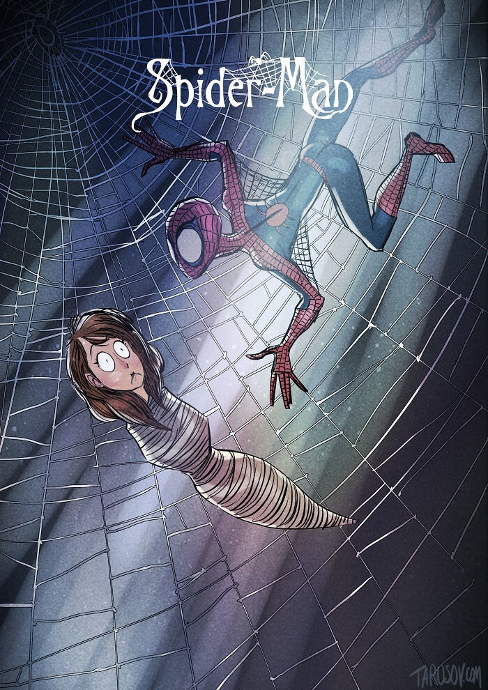 If Tim Burton Illustrated Superheroes