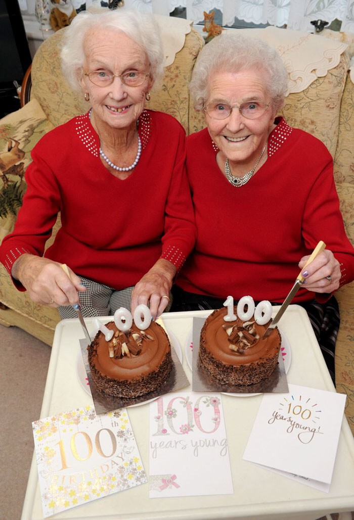 The twin sisters just celebrated their 100th birthday together