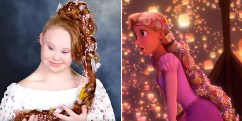 You Have To See This Model With Down Syndrome Become 6 Disney Princesses