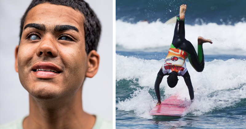 This Blind Guy Became A Professional Surfer Using An Unusual Technique