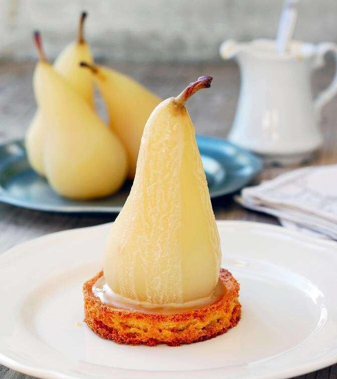 2. White-Wine-Poached Pears