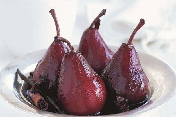 3. Red-Wine-Poached Pears