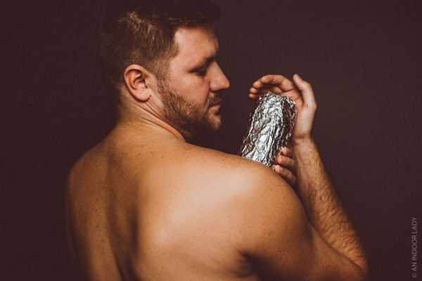 Couple Parodies Baby Photos By Posing With Their Delicious New Burrito