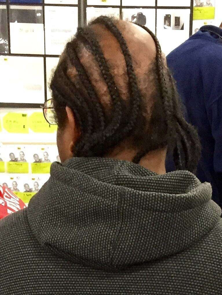 Cornrow comb over…