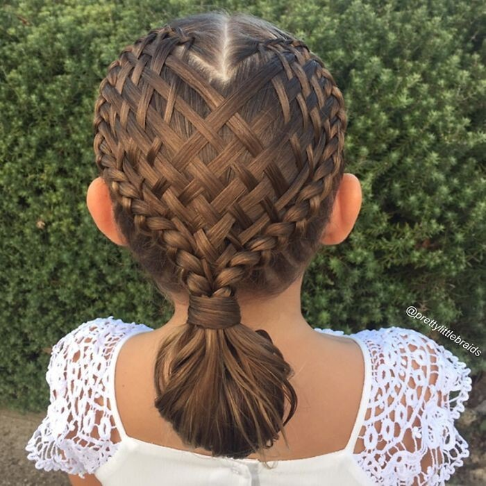 I braid Grace's hair most days and take the photo of the style in the morning before Grace leaves for school