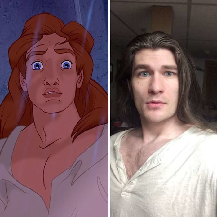 So many people told him that he looks like Prince Adam from Beauty and the Beast, he even tried cosplaying him