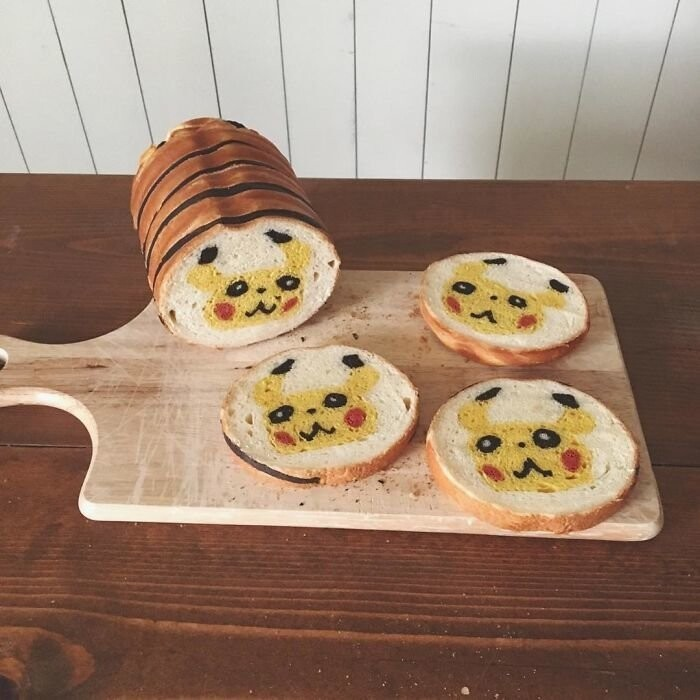 Japanese Mom Bakes Awesome Bread Inspired By Her Kid's Drawings And Nature