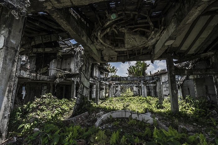 After playing paintball, you can receive a tour of Escobar's mansion or at least what's left of it