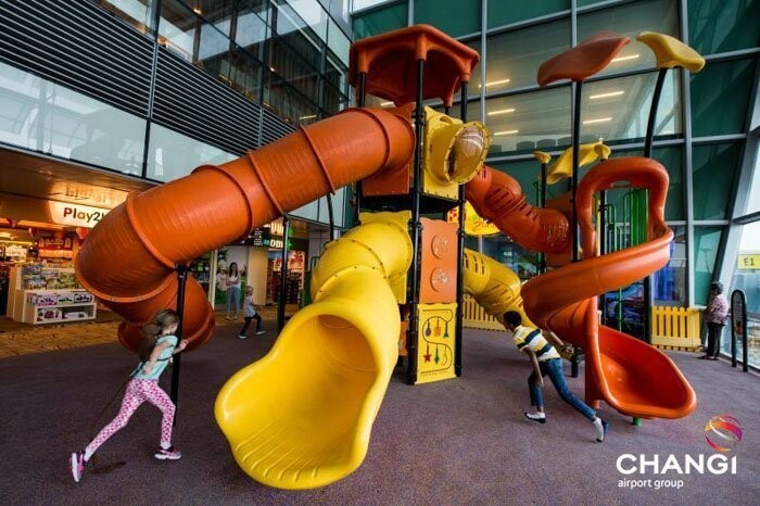 Changi Airport offers multiple playgrounds for both children adults to enjoy