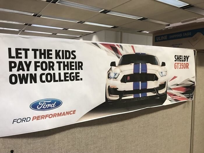 #22 Education For Your Kids? Not Important. Buy Our Expensive Car Instead