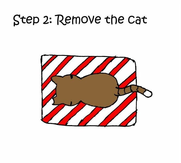 """How To Wrap A Present When You Have A Cat"""