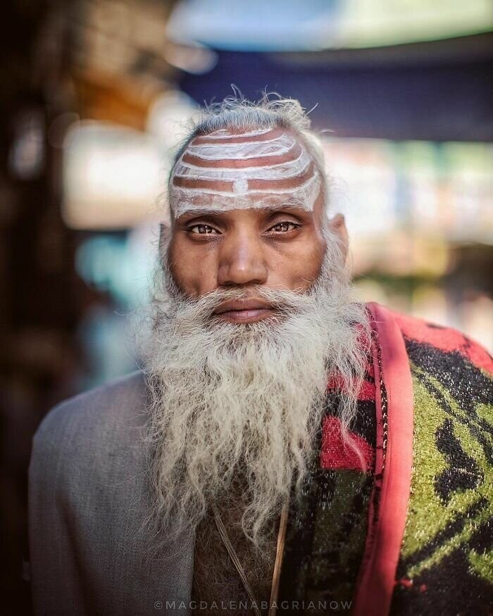 Portrait of a Sadhu, taken in the streets of Pushkar