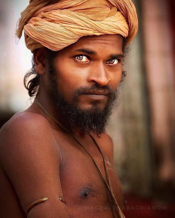 Portrait of a Sadhu, Hindu holy man, taken in the streets of Pushkar