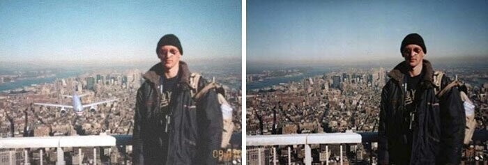 #30 A Photo Of A Tourist Taken Moments Before 9/11