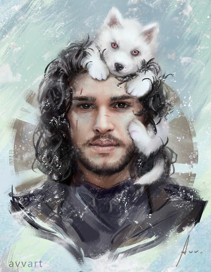 "Jon Snow (Kit Harington in ""Game of Thrones"")"