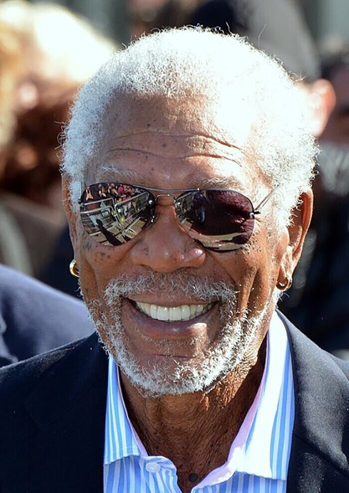 #4 Morgan Freeman, 50