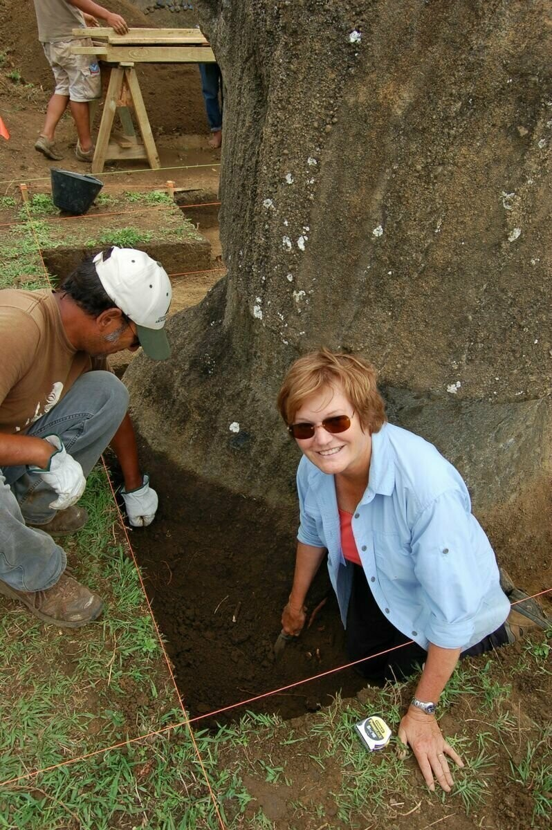 Archaeologist Jo Anne Van Tilburg has worked on Easter Island for decades - studying the famous moai statues and the living descendants of their creators