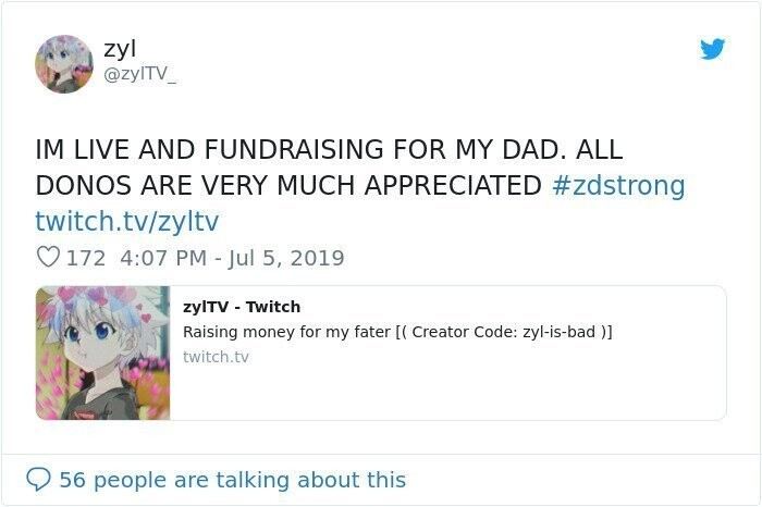 A boy from Canada dropped this little tweet saying he's starting a fundraiser for his dad