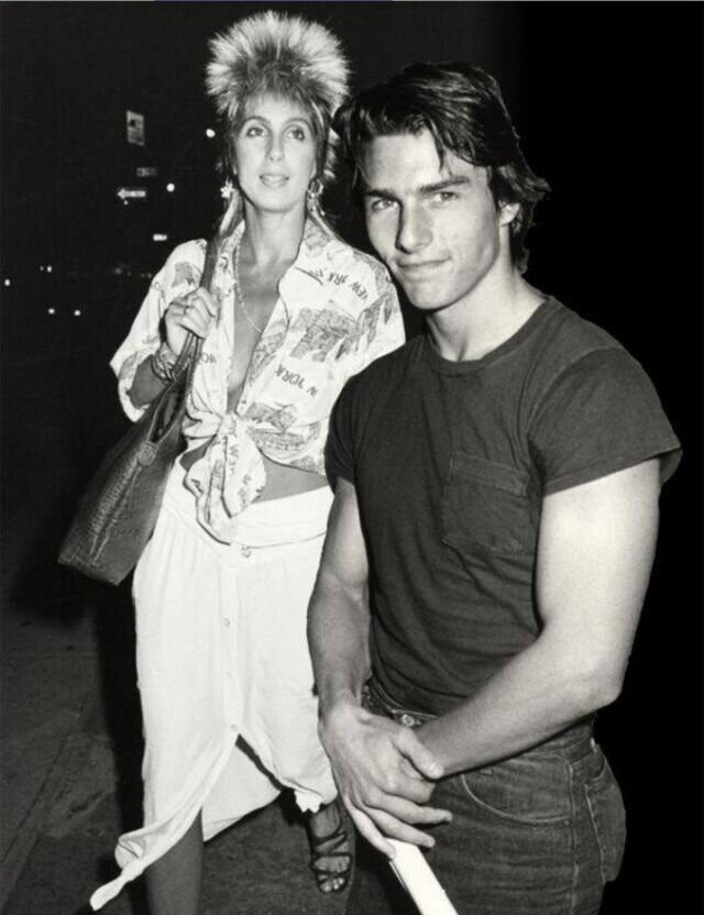 Photos of Cher and Tom Cruise During Their Dating Days in 1985