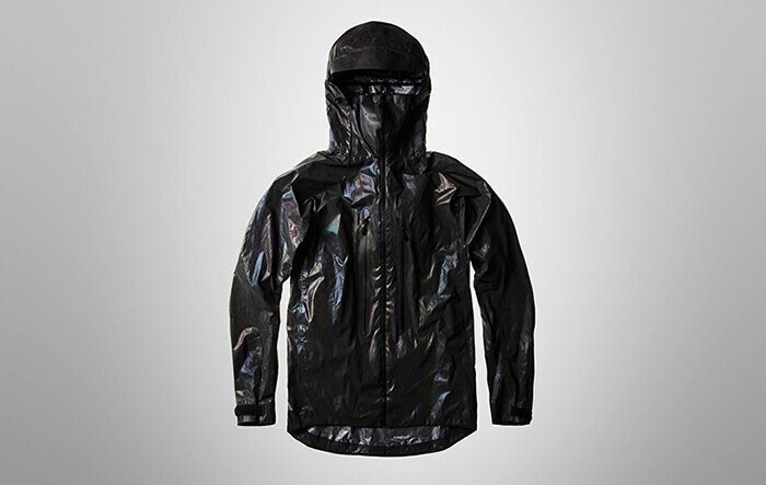 Under dull light conditions or inside, the jacket looks metallic black