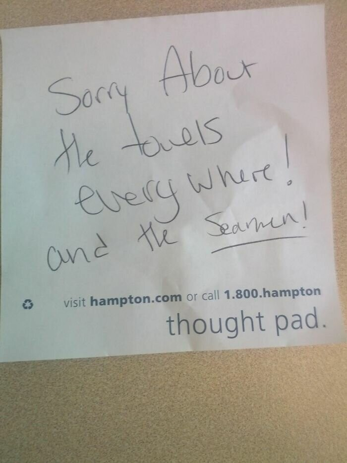 #14 I Work At A Hotel And A Guest Left This Note For Housekeeping