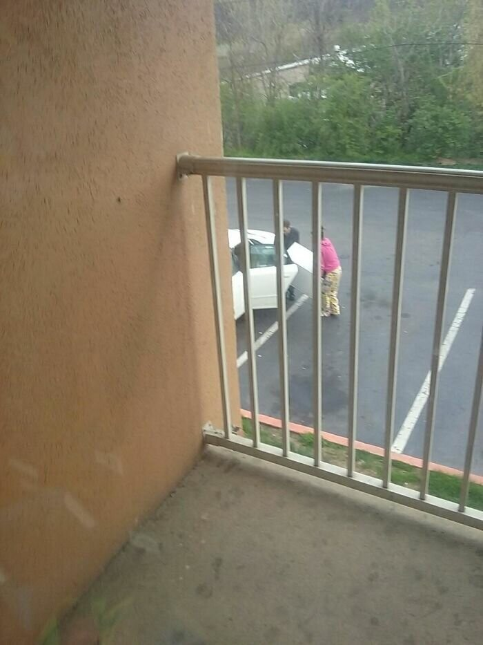 #4 These Fine People Were Loading The Mini Fridge From A Hotel Room I Watched From The Balcony