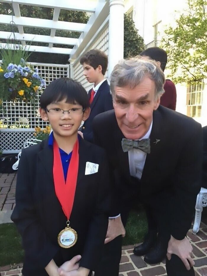 Bill Nye the Science Guy also appreciated his hard work and dedication