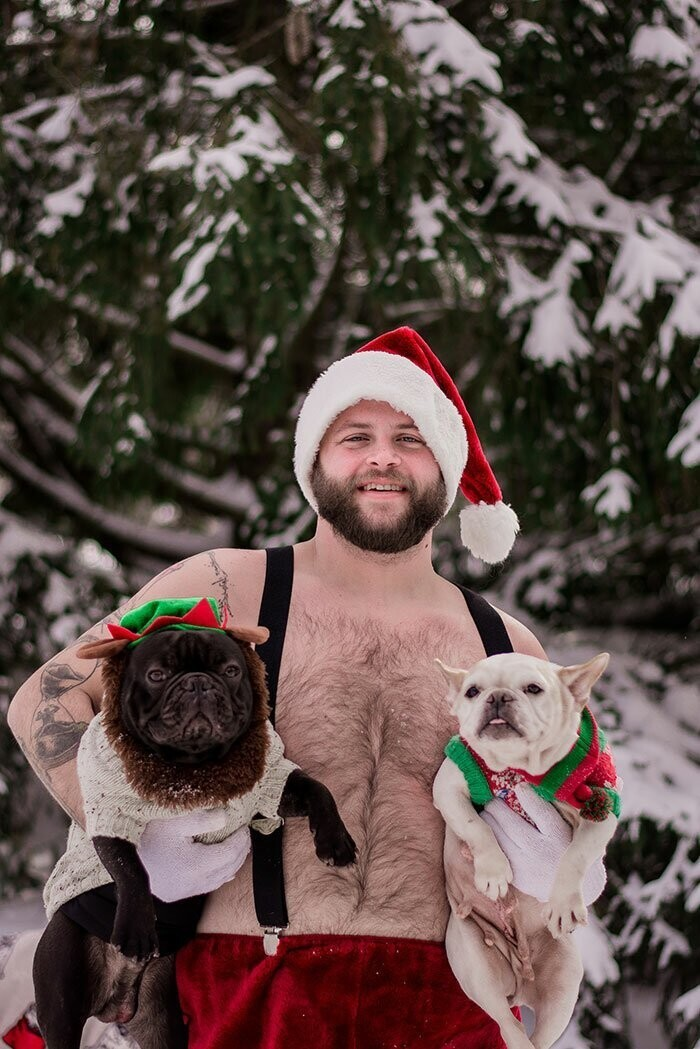 There's A Calendar Called 'Dad Bod And Rescue Dog' And It May Be The Perfect Gift For Christmas