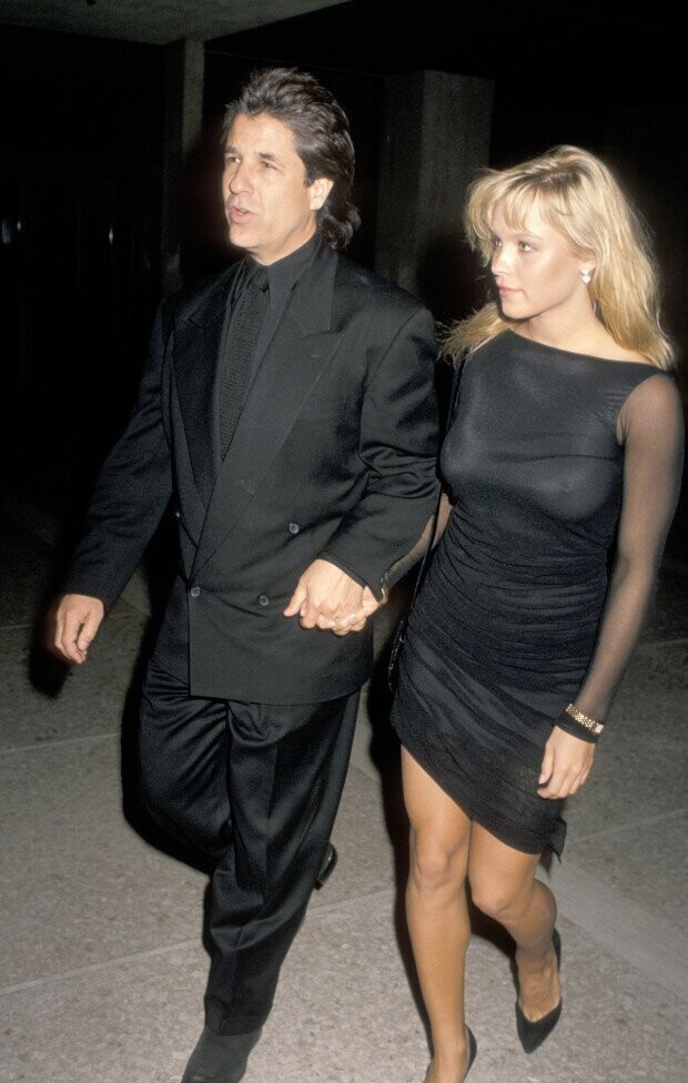 The pair out on the town in 1989 - Peters reportedly first proposed to her 30 years ago