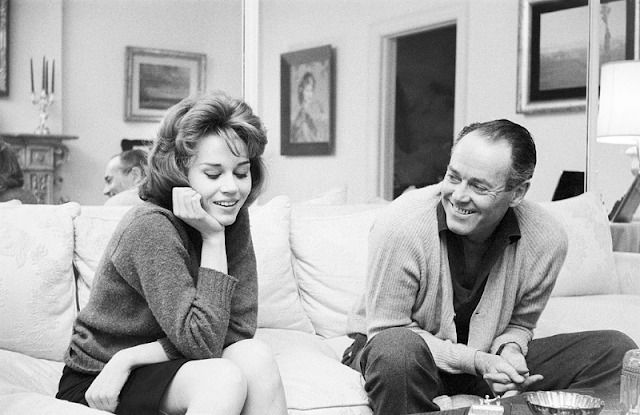 Jane Fonda during a visit to her father, Henry Fonda.