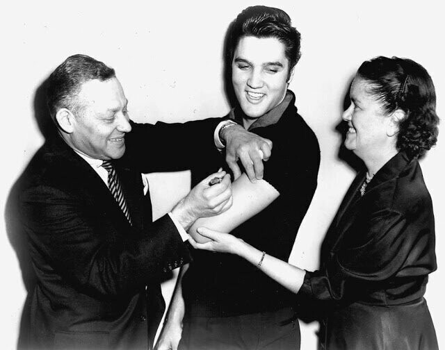 In 1956 Elvis Presley Got a Polio Vaccination on National TV