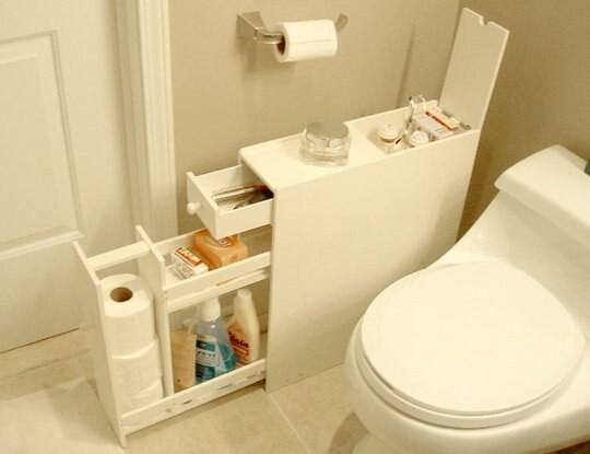 16. Узкий комод для туалета